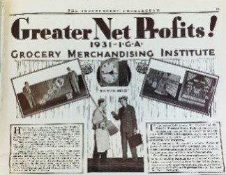 Grocery Merchandise Institute News paper article